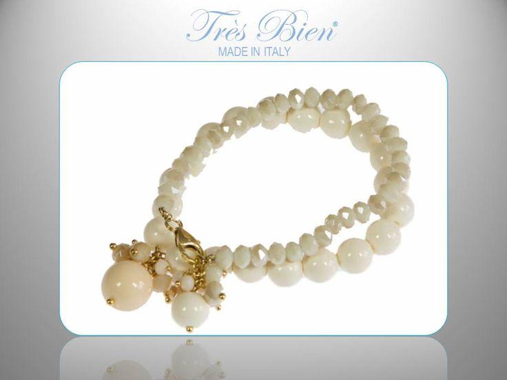 #bracciale in #PerleKobe #Cristalli. #fashion #bijoux Compra su www.tresbienstyle.com