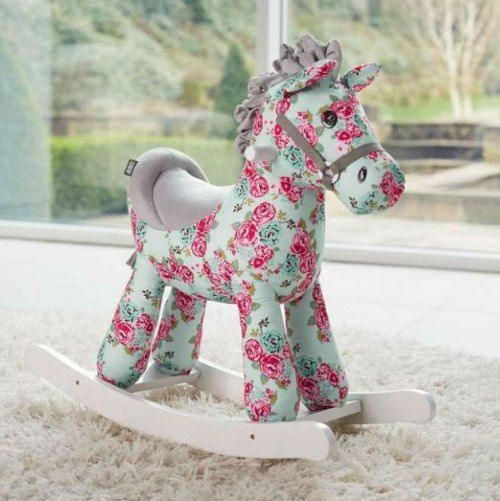 Fleur is one of our super girly floral horses, the perfect companion for little girls. She encourages imaginative play and interaction as it makes horse sound effects.