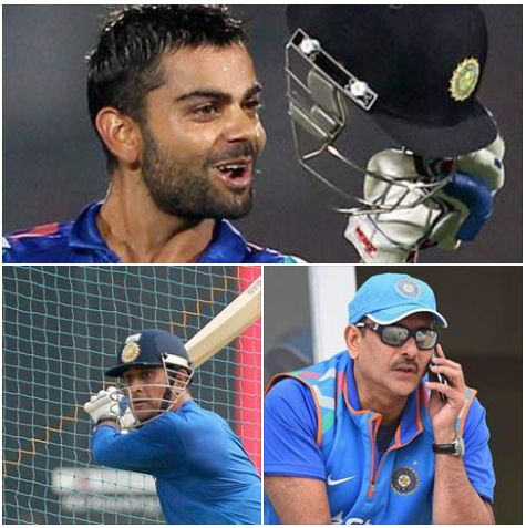 Former Team India director Ravi Shastri thinks the time has come for Mahendra Singh Dhoni to hand over the captaincy to Virat Kohli in all formats.
