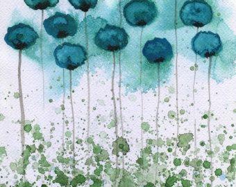 Acuarela: Acuarela flor pintura  impresión del