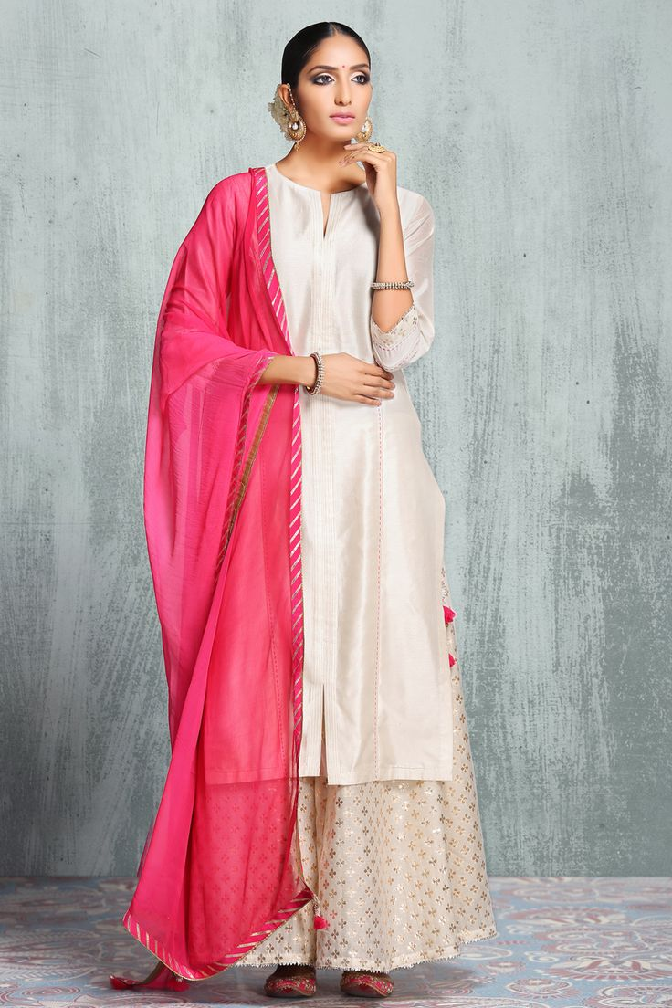 Friend Of The Bride Outfit - Off White Sharara