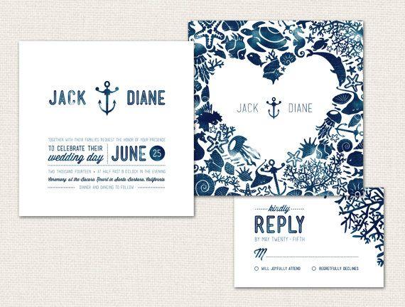 Best 25 Nautical wedding invitations ideas on Pinterest