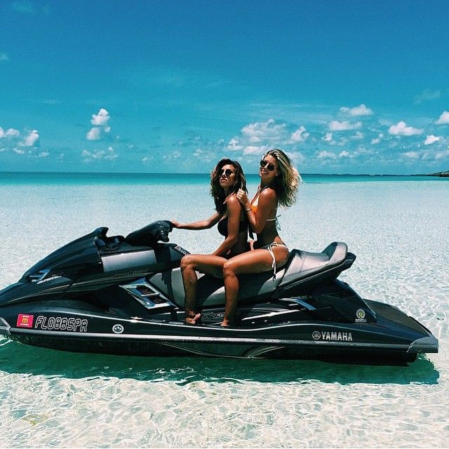 Jetski days in the Bahamas with @devinbrugman & @tashoakley || TAG your friends.. ⬇️