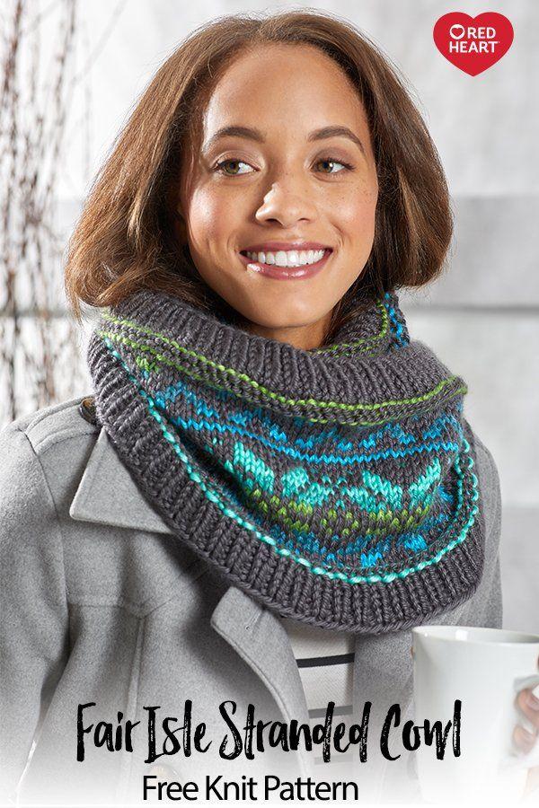 Fair Isle Stranded Cowl free knit pattern in Soft Essentials yarn