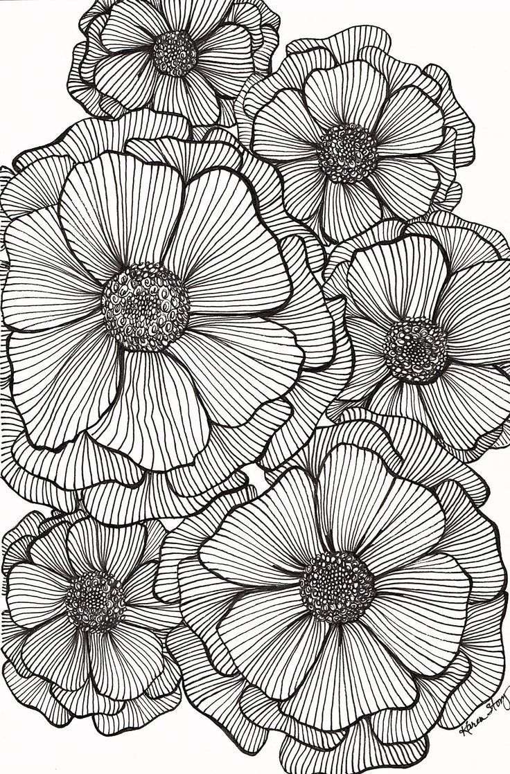 Blackline Flowers | Wir Sind Lustig ◕‿◕