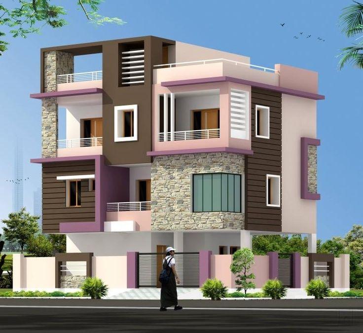 Indian Home Exterior Design Photos: 518 Best Front Elevation Images On Pinterest