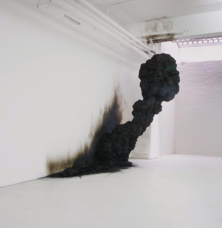 Olaf Brzeski Dream – Spontaneous Combustion, 2008 Polyurethane resin, soot, ash, Photo courtesy Czarna Gallery, Warsaw