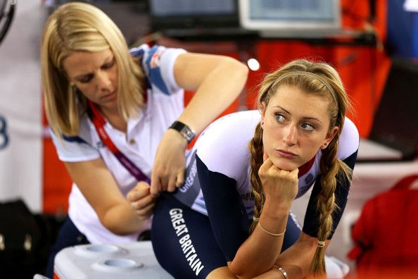 Laura Trott Photos - Laura Trott of Great Britain has her number pinned on as she prepares ahead of the Women's Omnium Track…