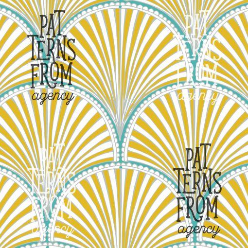 Granny's Attic – Scallop by Noora Hattunen  #patternsfromagency #patternsfromfinland #pattern #patterndesign #surfacedesign #printdesign #noorahattunen