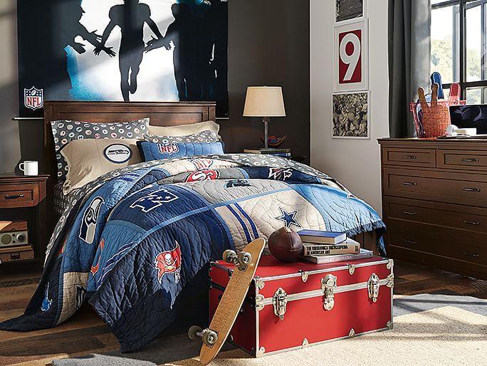 I Love The PBteen Hampton NFL Bedroom On Pbteen.com