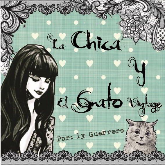 LA CHICA Y EL GATO VINTAGE