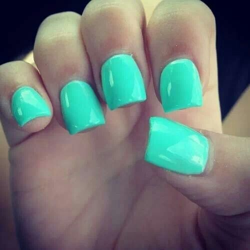 Turquoise Nails Fall I Should Also Try Teal Its A Real Nice Color For Me