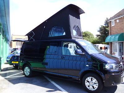VW Transporter Camper Van T5 LWB Highline With Pop Up Roof