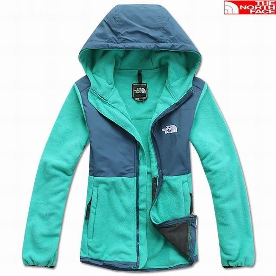 The North Face Denali Hoodie Jacket Women Green (i seriously want this! ive always wanted a north face.)
