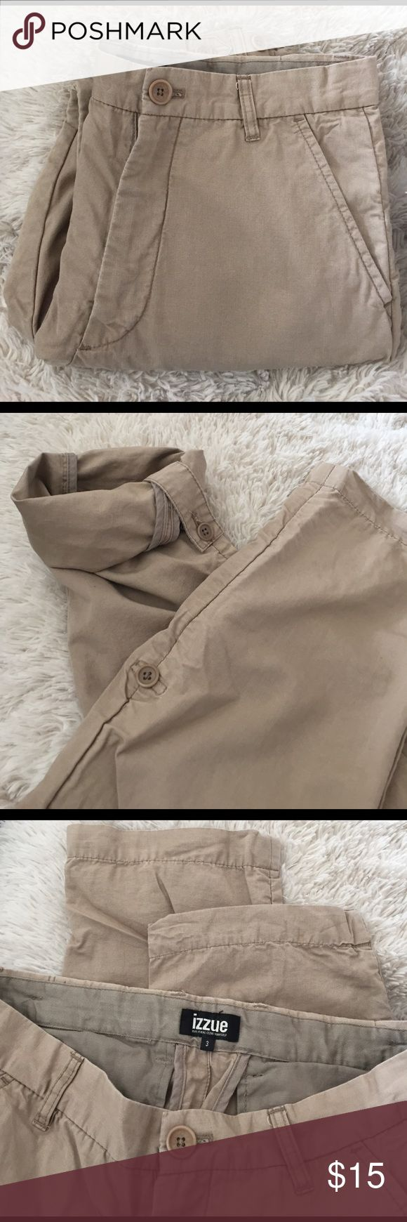 Men Khakis Pants Khaki Pants, you can also roll the bottom up little bit.see photos. The size is 3, which is 30 w. Pants Chinos & Khakis