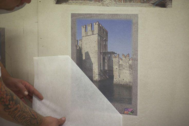 Een foto, logo of willekeurige print kan nu rechtstreeks op stucwerk worden aangebracht.
