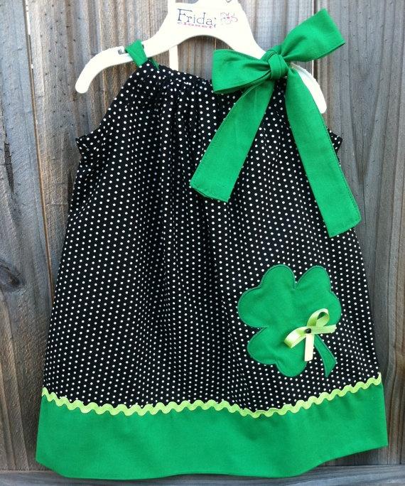 shamrock St Patrick's day pillowcase style  dress by fridascloset1, $25.00