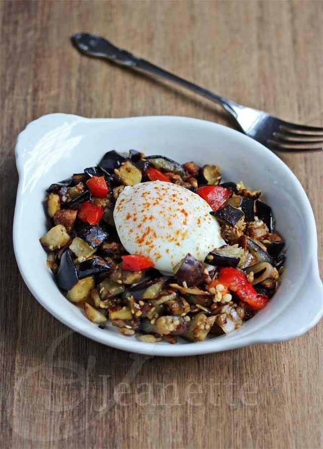 Eggplant Pepper Mushroom Sausage Hash © Jeanette's Healthy Living # ...
