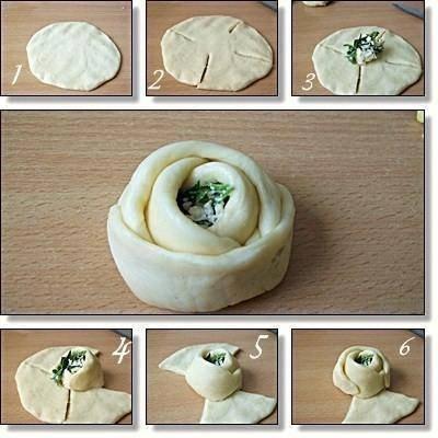 Rosa de pan con queso feta y perejil