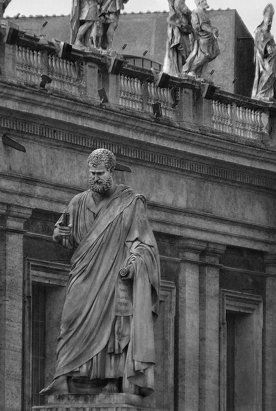 Statua di San Pietro     Basilica di San Pietro   Roma   da Vitto P.