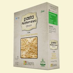 ELAGRIS organic Mediterranean orzo pasta will retain resilience throughout the cooking process, ever after being baked or simmered in a stew, and it has a very pleasant clear flavor and chewy mouthfeel. Perfect for soups and ideal for kids.