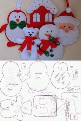 Fácil adorno navideño para las puertas, pared o ventana, si deseas puedes agrandar el tamaño y darle otros colores originales.