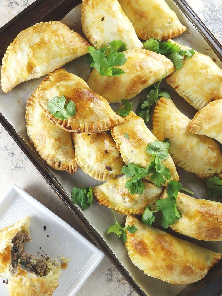 Ground Beef Empanadas from The Cheerful Kitchen. A healthier baked empanada!