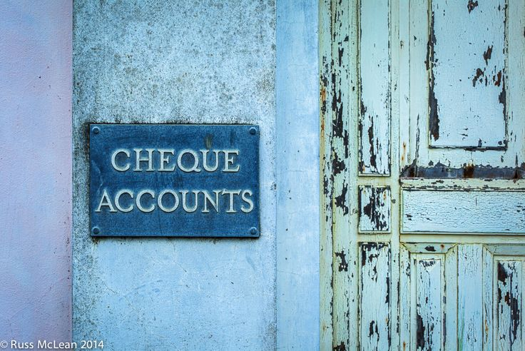"""Cheque Accounts"" - Tokomaru Bay in the North Island of New Zealand."