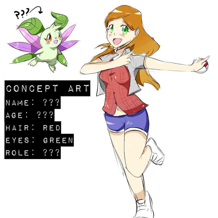 Sorry for the lack of Ken Sugimori-Styled Fakémon recently  I've been focusing on characters! Here's one character I made this morning, couldn't think of a name -.- haha sorry for the sloppy colouring! XD please provide feedback or suggestions for names, it would be a big help! :) #pokemon #fakemon #art #character #design #female #girl #conceptart #redhead #trainer #cute #digital #coloured #sketch #anime #manga #style