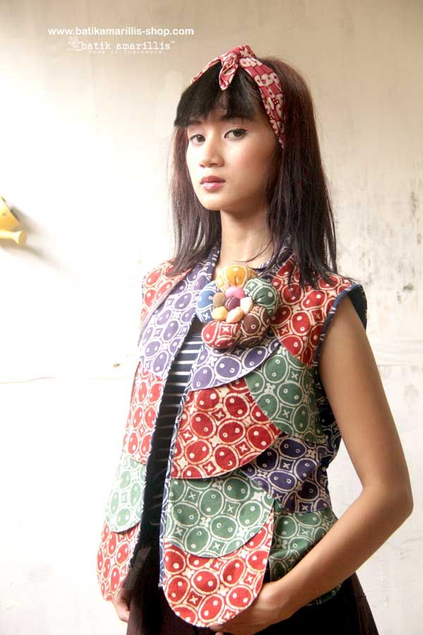 Batik Amarillis's Les Belles Plumes ... ♥ Batik Amarillis's petit Plume Vest  ♥ ..this super unique collection is uniquely & meticulously hand crafted individually ,features over lapping patchwork that looks like multi color Feather.