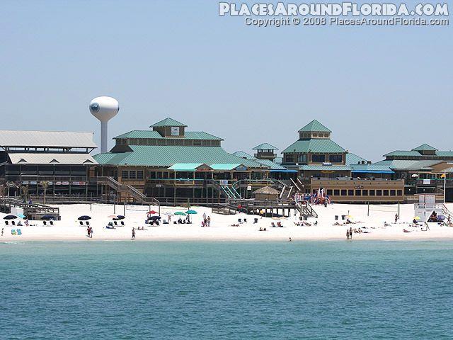 Okaloosa Island Boardwalk At Fort Walton Beach Florida