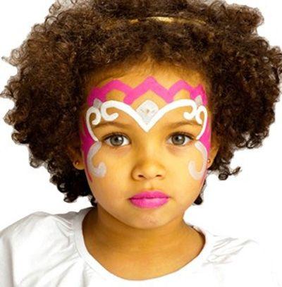 Trucco del viso per Carnevale per bambini da principessa n.8