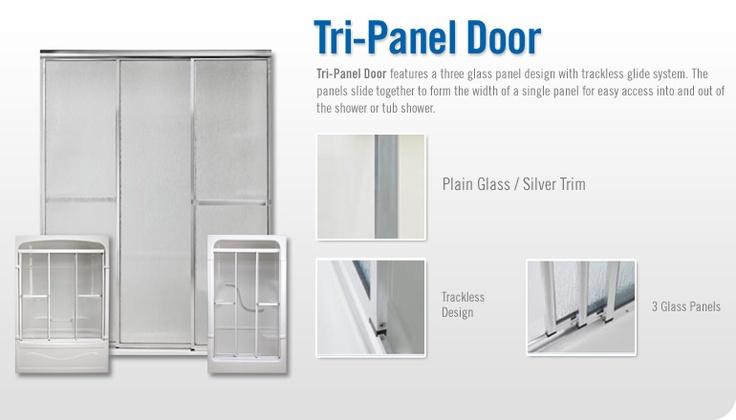 tri panel shower door - manufactured in Canada