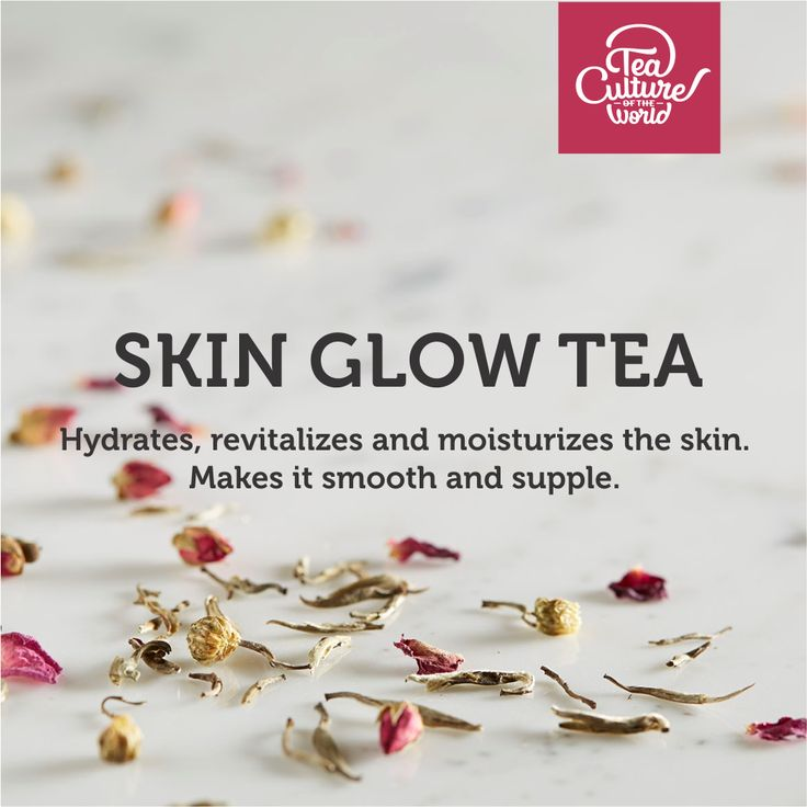 The Skin Glow tea with Rose Tea and Green Tea hydrates, revitalises and moisturises the skin, making it smooth and supple.