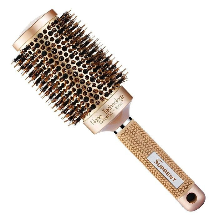 10 Best Large Round Hair Brushes - #9 Suprent Nano Technology Ceramic & Ionic Round Barrel Hair Brush #rankandstyle
