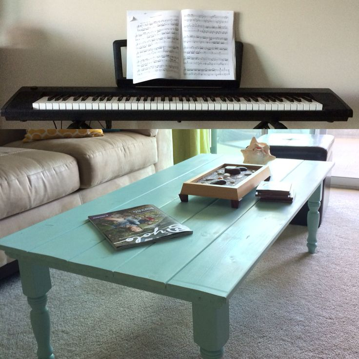 My mother is an artist and both my parents play musical instruments, so I grew up playing piano and guitar, and doing lots of crafts. The bottom picture is my coffee table that I made myself in 2012.