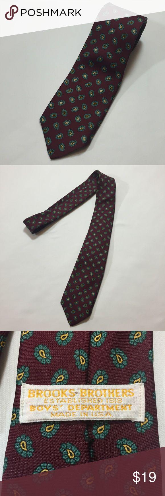 Boys brooks brothers necktie Good used condition brooks brothers necktie Brooks Brothers Accessories Ties
