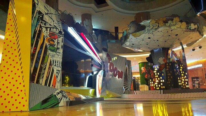 Pop art installation by AD