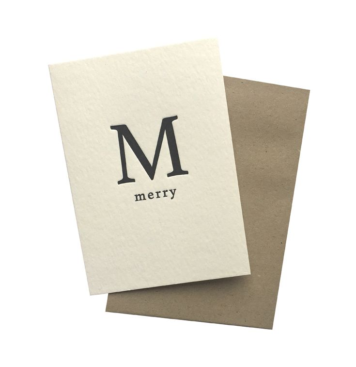 Write to Me. Letterpress Christmas note card.  Available in Sunday Showbag.