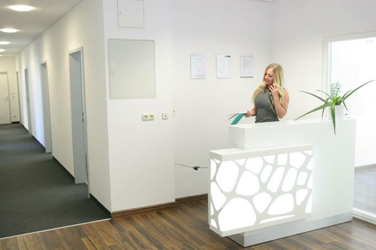 Organic reception desk project in Germany