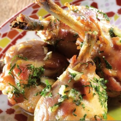 Chicken Drumsticks with Garlic, Lemon and Coriander