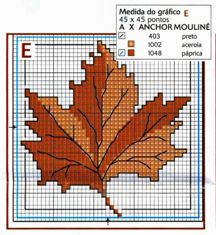 schema+punto+coce+autunno-+foglia+di+pioppo.jpg 690×749 piksel