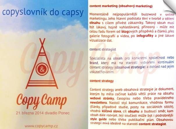 Byli jsme na letošním Copycampu a bylo to úžasné. Mrkněte na rychlý souhrn toho, co jsme se dozvěděli.