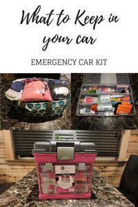 What to keep in your car in case of an emergency. Also, items for on the go mom who needs the convenience of items on the go. Great Emergency Car kit to keep in any vehicle.