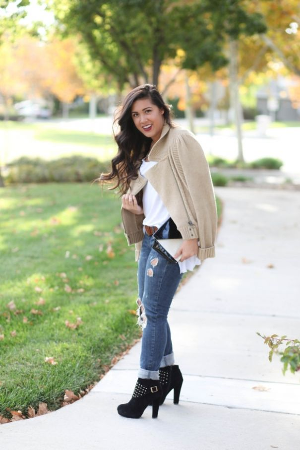 casual fall sweater outfit | kailaniskorner.com »