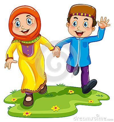 muslim child vector - Carian Google