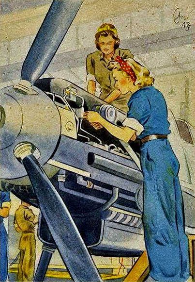 """Women Working For You"" Postcards, 1943"