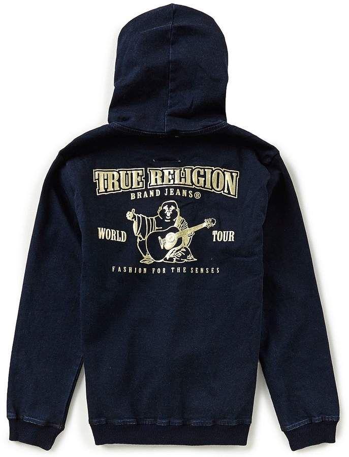 9a0f42338 True Religion Big Boys 8-20 French Terry Buddha Hoodie #logo#horseshoe#