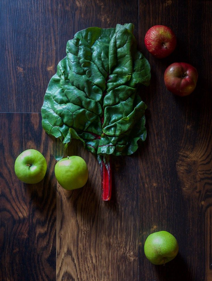 Apples and Swiss Chard