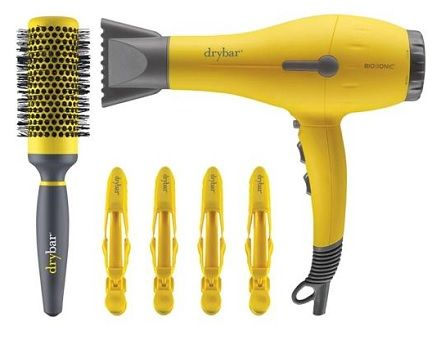 "Perfect for a mom who's looking to save time getting ready. Drybar's official blowdryer ""Buttercup"" is packaged with the ""Full Pint"" brush, ""Hold Me! Clips,"" and two nozzle attachments. This powerful, ultra-light dryer is powerful and leaves hair looking shiny and silky! Get it here."